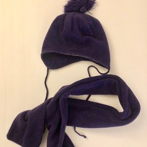 Matching Hat and Scarf, Purple